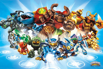 Plakat Skylanders Giants - group