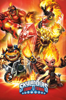 Plakat Skylanders Trap Team - Fire