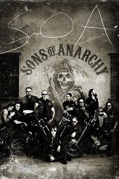 Plakat SONS OF ANARCHY - SYNOWIE ANARCHII - vintage