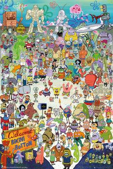 Plakát Spongebob - Cast