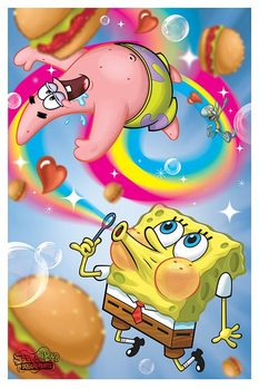 Plakat SpongeBob Kanciastoporty - Rainbow