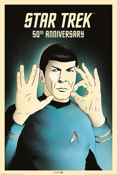 Plakat Star Trek - Spock 5-0  50th Anniversary