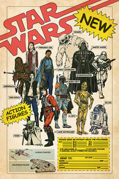 Plakat Star Wars - Action Figures