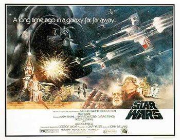 Plakat Star Wars (Gwiezdne wojny) - Style 'A' Half-Sheet