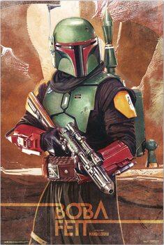 Plakát Star Wars: The Mandalorian - Boba Fett