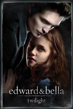 Plakát STMÍVÁNÍ - edward and bella