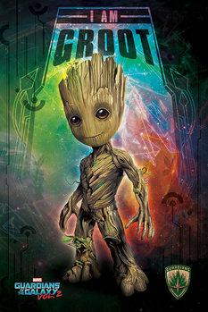 Plakát Strážci Galaxie Vol. 2 - I Am Groot