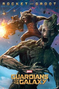 Plakat Strażnicy Galaktyki - Groot and Rocket