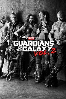 Plakat Strażnicy Galaktyki vol. 2 - Black & White Teaser