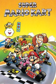 Plakát Super Mario Kart - Retro