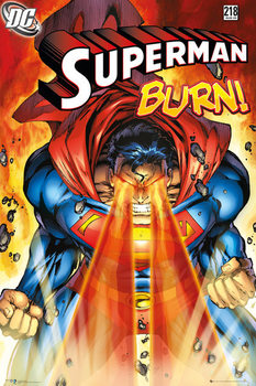 Plakát Superman - Burn