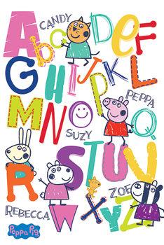 Plakat Świnka Peppa - Alphabet