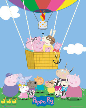 Plakat Świnka Peppa - Peppa Pig - Super George