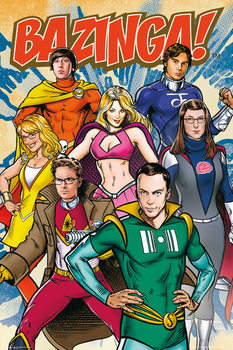 Plakát TEORIE VELKÉHO TŘESKU - THE BIG BANG THEORY - Comic