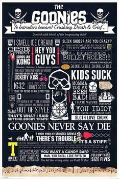 Plakát The Goonies - Typographic