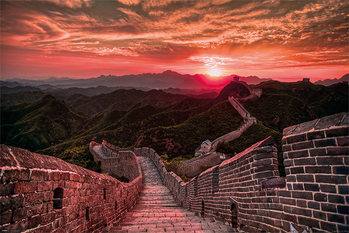 Plakat The Great Wall Of China - Sunset