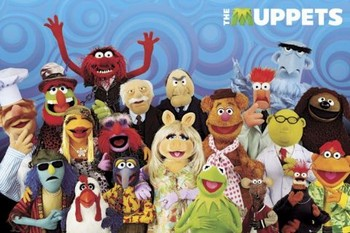 Plakát  THE MUPPETS - cast