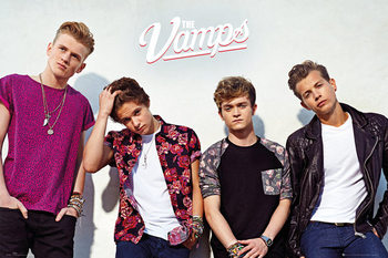 Plakát  The Vamps - Band wall