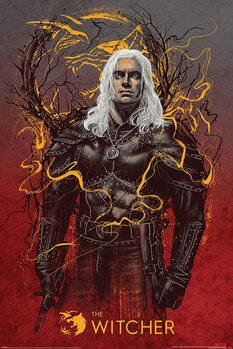 Plakát The Witcher - Geralt the White Wolf