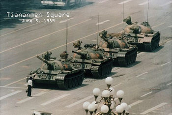 Plakat Tiananmen square - Plac niebiańskiego spokoju - pekin