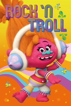 Plakát  Trollové - DJ