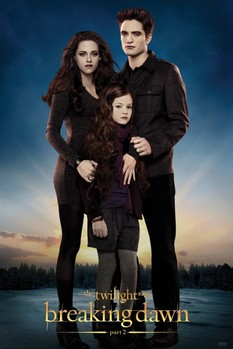Plakát TWILIGHT BREAKING DAWN 2 - edward,bella & renesmee