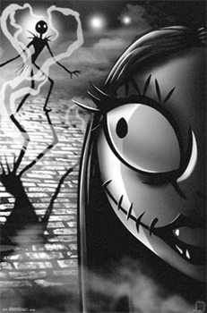 Plakát Ukradené Vánoce Tima Burtona - Jack and Sally