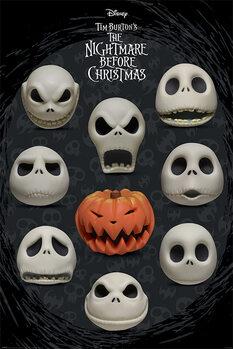 Plakát Ukradené Vánoce Tima Burtona - Many Faces of Jack