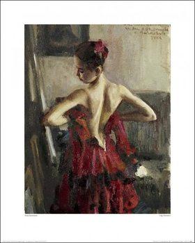Reprodukcja Vasily Bratanyuk - Olga Pavlova I