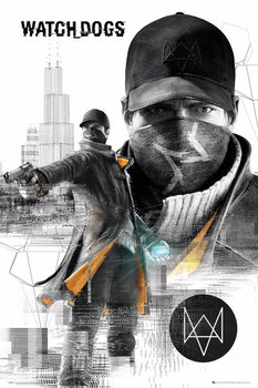Plakát Watch dogs - city