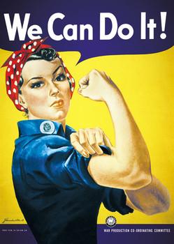 Plakát We can do it ! - můžeme to udělat!