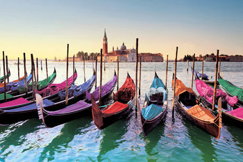 Plakat Wenecja - gondole