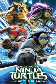 Plakat Wojownicze zólwie ninja 2 - Group