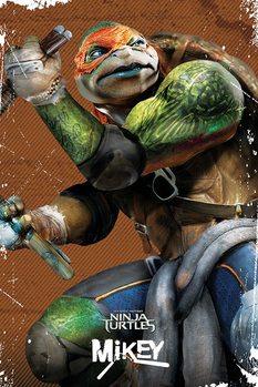 Plakat Wojownicze zólwie ninja - Michelangelo