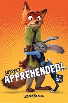 Plakát Zootropolis: Město zvířat - Suspect Apprehended