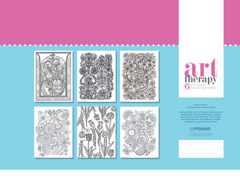Plakaty do kolorowania Art Therapy - Flower