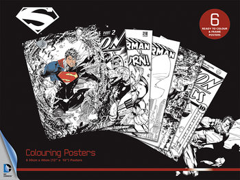 Plakat do kolorowania DC Comics - Superman
