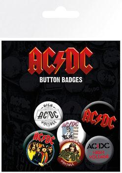 Plakietki zestaw AC/DC - Mix