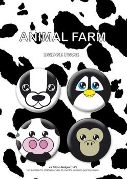 Plakietki zestaw ANIMAL FARM