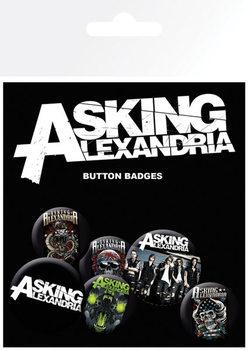 Plakietki zestaw Asking Alexandria - Graphics