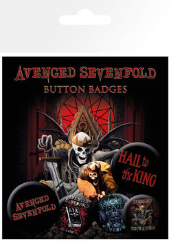 Plakietki zestaw AVENGED SEVENFOLD – hail to the king