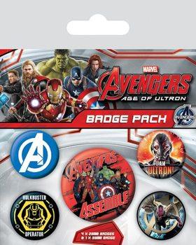 Plakietki zestaw Avengers: Czas Ultrona