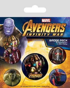 Plakietki zestaw  Avengers: Infinity War