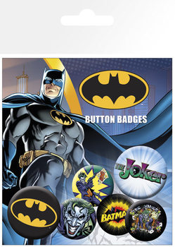 Plakietki zestaw  BATMAN COMIC