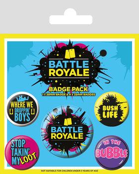 Plakietki zestaw Battle Royale - Infographic