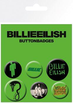 Plakietki zestaw Billie Eilish - Mix