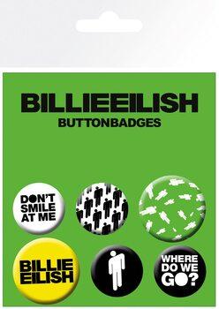 Plakietki zestaw Billie Eilish - Stickman