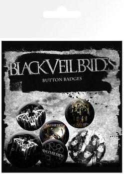 Plakietki zestaw  BLACK VEIL BRIDES