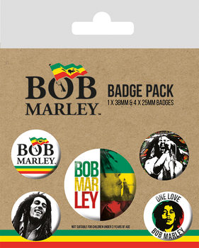 Plakietki zestaw Bob Marley