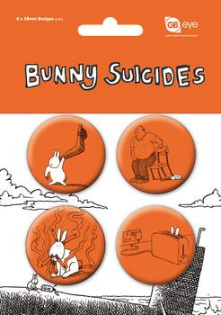 Plakietki zestaw BUNNY SUICIDES
